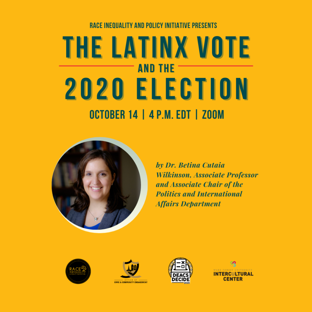 The Latinx Vote and the 2020 Election